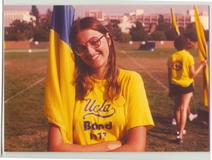 1977, when I was a flag twirler for the UCLA marching band.  Was I really ever that skinny??